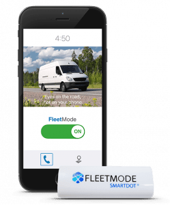 FleetMode app and SmartDot device to disable cell phones while driving