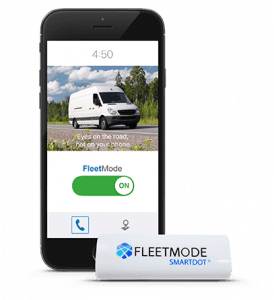 FleetMode safe driving app beside SmartDot