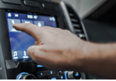Distracted Driving – Car's Touchscreen Console