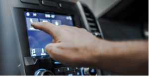 distracted driving touchscreen console