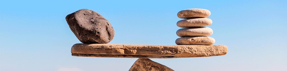 equal balance of rocks
